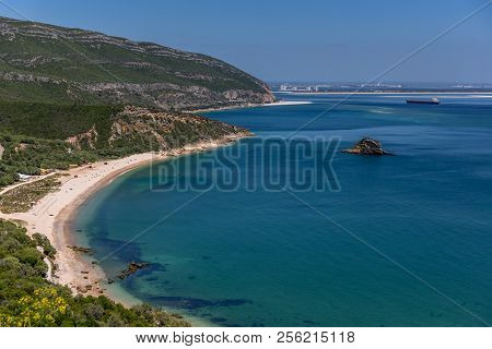 Amazing Top View Of The Setubal Beaches In Portugal