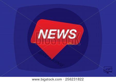 Breaking News Vector Photo Free Trial Bigstock