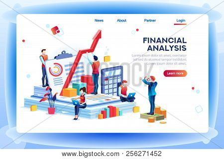 Balance Financial Value, Management And Administration Concept. Characters, People Engineering A Pla