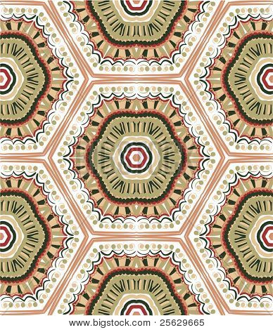 Hand drawn seamless pattern. Ethnic style