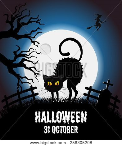 Happy Halloween Vector Poster, Halloween Banner, Halloween Background, Halloween Party, Vector Illus
