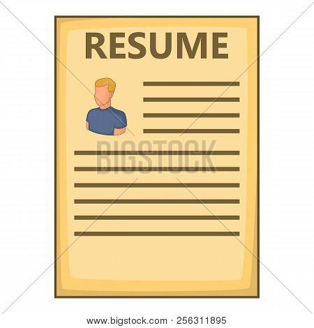 Resume Icon. Cartoon Illustration Of Resume Icon For Web