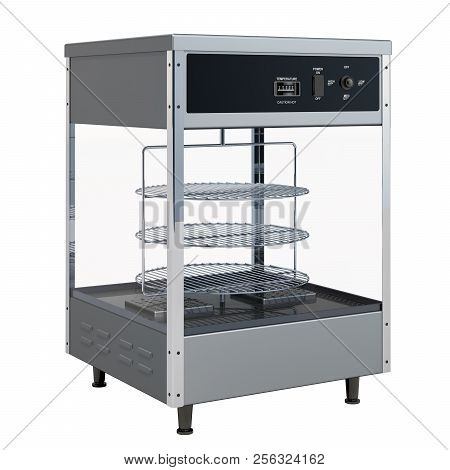 Open View Pizza Merchandiser, 3D rendering isolated on white background poster