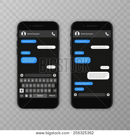 Social Network Concept. Blank Template. Messenger Window. Chating And Messaging Concept. Chat App Te