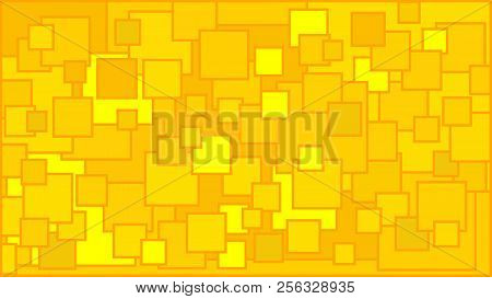Squares In Various Shades Of Yellow Background - Illustration,  Illustration With Squares,  Yellow S