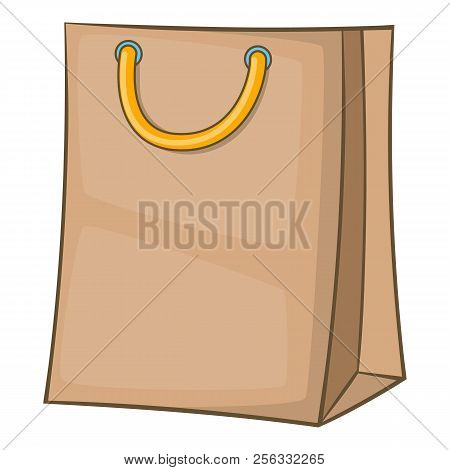 Shopping Bag Icon. Cartoon Illustration Of Shopping Bag Icon For Web Design
