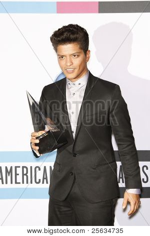 LOS ANGELES - NOV 20: Bruno Mars at the 2011 American Music Awards Press Room held at Nokia Theatre L.A. Live on November 20, 2011 in Los Angeles, California