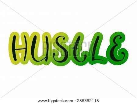 Pair Dance Hustle. Music Vector Illustration. Handwritten Calligraphy