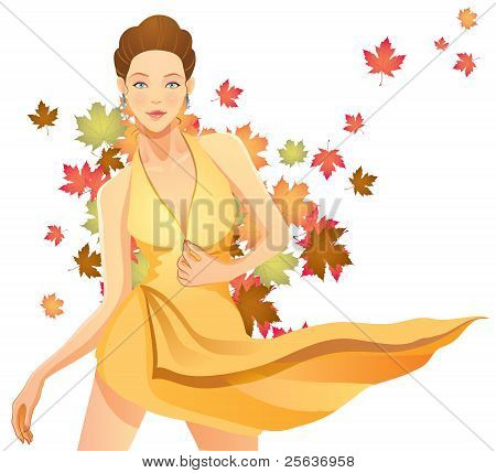 Pretty Autumn Girl