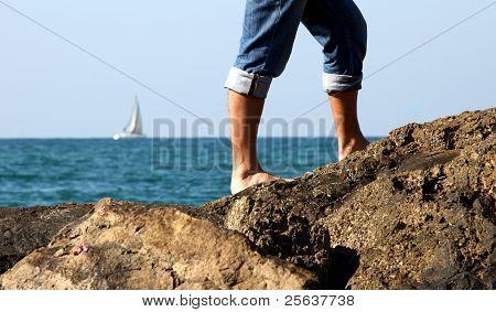 Legs on the sea