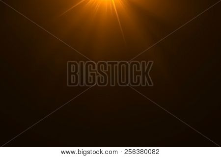 Gold Warm Color Bright Lens Flare Rays Light Flashes Leak Movement For Transitions On Black Backgrou