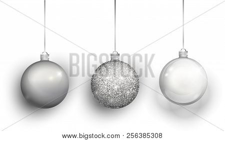 Silver christmas tree vector & photo free trial bigstock