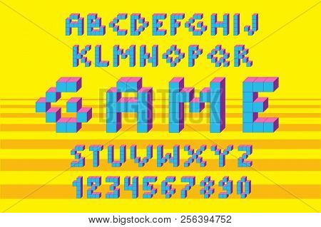 Pixel Retro Video Game Font. 80 S Retro Alphabet Font.