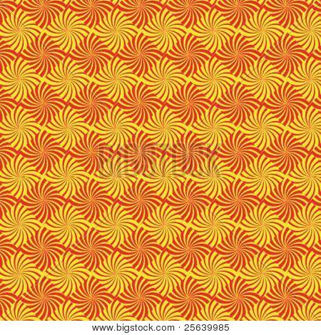 An orange, swirly vector pattern