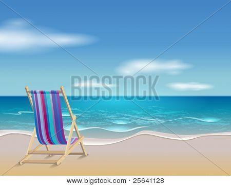 Deckchair on beach