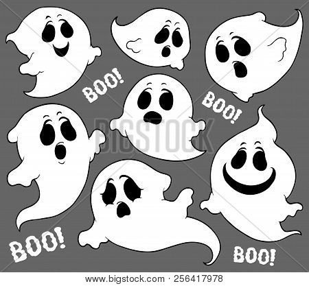 Ghosts Thematic Set 2 - Eps10 Vector Picture Illustration.
