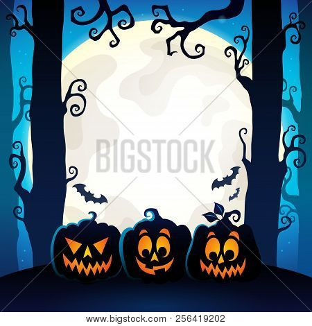 Halloween Forest Theme Image 9 - Eps10 Vector Picture Illustration.
