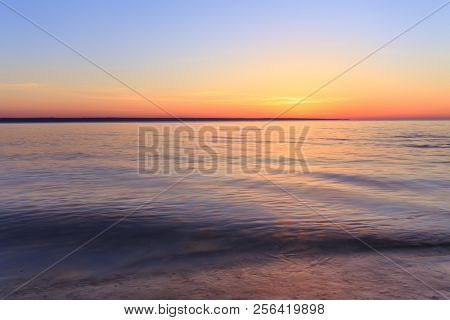 Dawn On A Calm River / Cloudless Morning Calm Nature