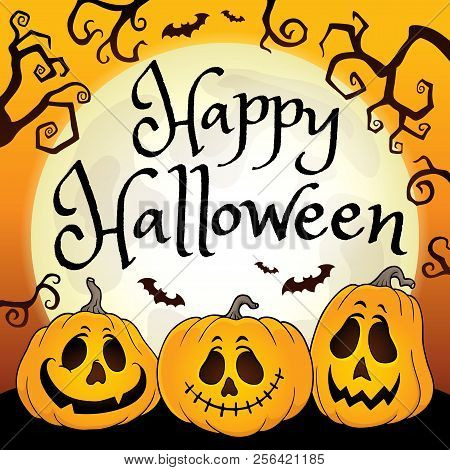 Happy Halloween Composition Image 2 - Eps10 Vector Picture Illustration.