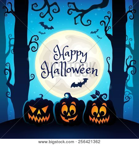 Happy Halloween Composition Image 4 - Eps10 Vector Picture Illustration.