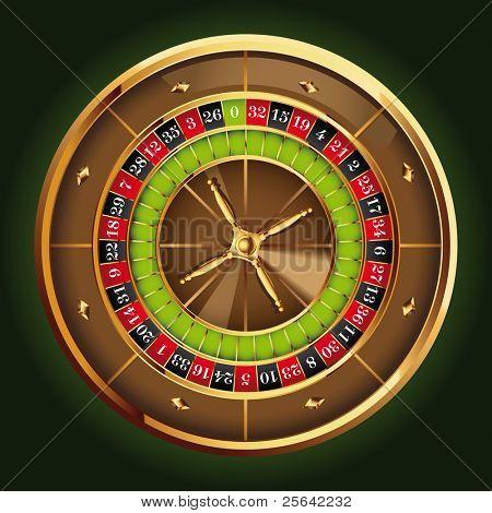 detailed casino roulette wheel