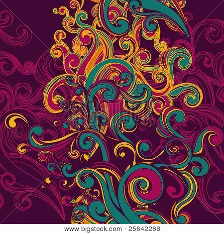 çiçek sorunsuz geçmiş swirls ile