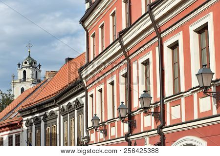 Vilnius Old Town Details. The Old Town Of Vilnius One Of The Largest Surviving Medieval Old Towns In