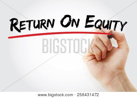 ROE - Return On Equity acronym, business concept background poster