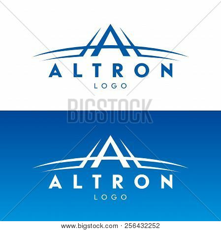 Vector Logo With The Stylized Letter A