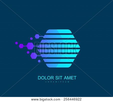 Block Chain Icon Or Logo Element Template. Crypto Currency. Blockchain Concept. Vector Illustration.