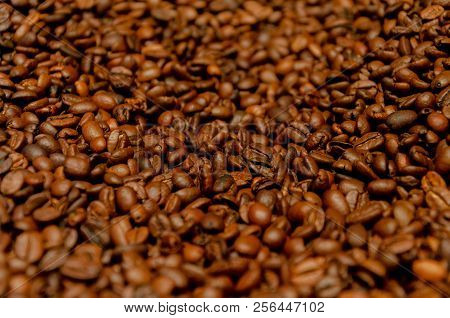 Coffee Background Pattern With Depth Of Field