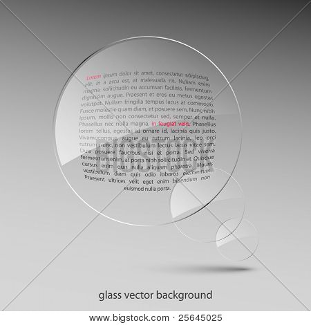 Glass background. Vector illustration. Eps10