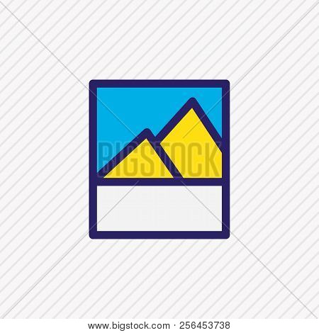 Vector Illustration Of Image Icon Colored Line. Beautiful Application Element Also Can Be Used As Pi