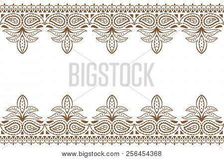 Mehndi Background Vector Photo Free Trial Bigstock