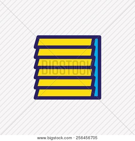 Illustration Of Window Siding Icon Colored Line. Beautiful Industry Element Also Can Be Used As Jalo