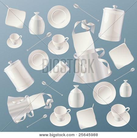 kitchen background with dishes