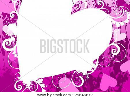 Abstract valentine's background, vector version also available in my portfolio