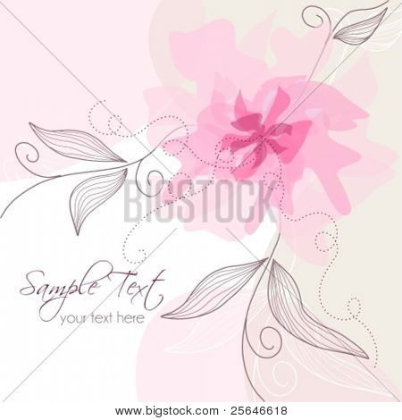Delicate floral background with place for text,  raster version also available in my portfolio