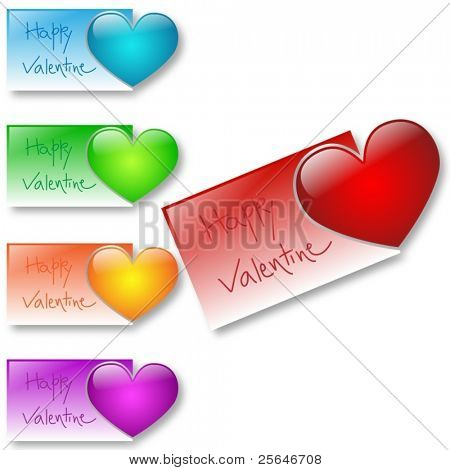 Valentine's card available in different colors, raster version also available in my portfolio