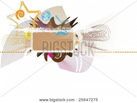 colorful background with ornaments and design elements