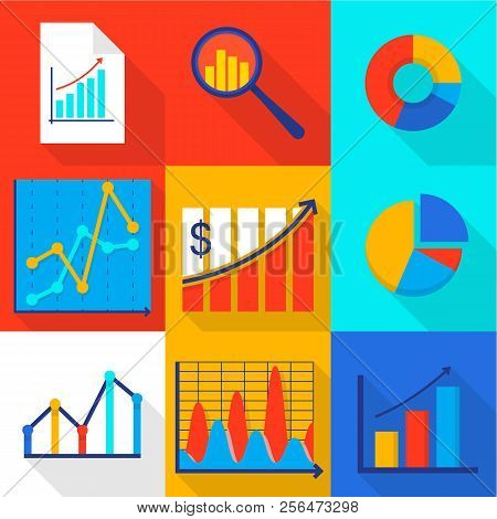 Cash Flow Icons Set. Flat Set Of 9 Cash Flow Vector Icons For Web Isolated On White Background