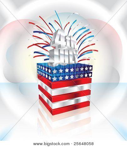 Happy 4th July vector illustration