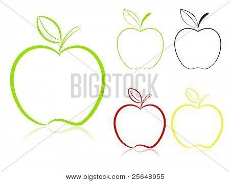 Apple set. Vector