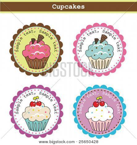 Cute Cupcake Stickers