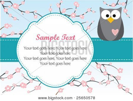 Cute Owl on Branch