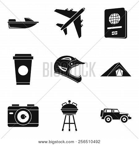 Sortie Icons Set. Simple Set Of 9 Sortie Icons For Web Isolated On White Background