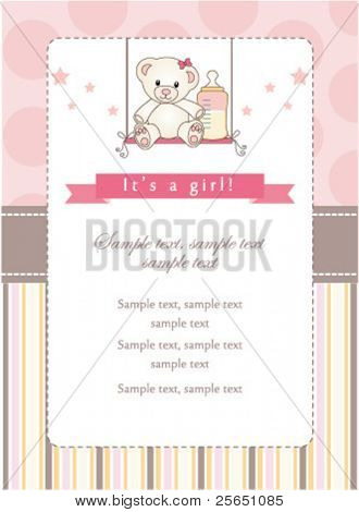 New baby girl shower invitation