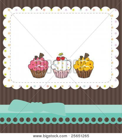 Cupcake thank you card