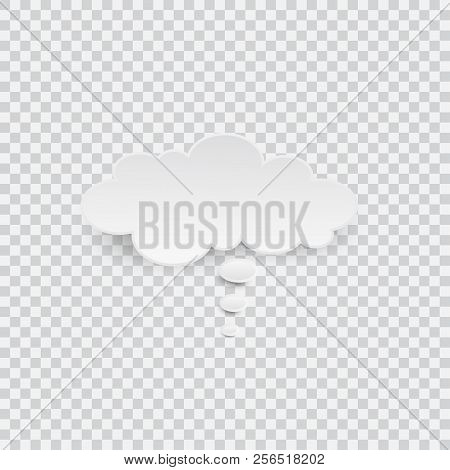 White Blank Speech Bubble Isolated Vector. Infographic Design Thought Bubble On The Transparent Back