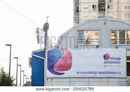 Belgrade, Serbia - September 1, 2018: Logo Of Europ Assistance In Front Of Its Main Office For Belgr